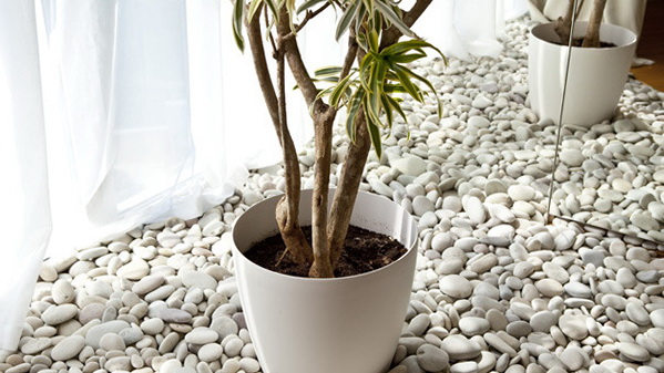 Pebbles home interiors home design and style for Interior decoration using pebbles